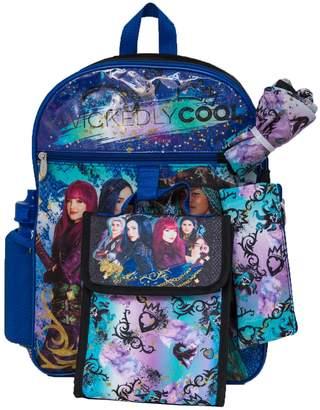 Disney Disney's Descendants Kids Backpack, Cinch Sack, Lunch Bag, Zip Pouch & Water Bottle Set