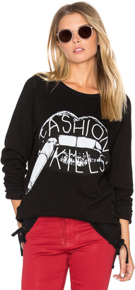 Lauren Moshi Kass Lace Up Pullover $173 thestylecure.com