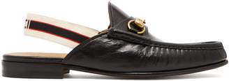Gucci Horsebit slingback-strap backless leather loafers