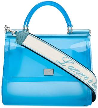 Dolce & Gabbana semi-transparent Sicily tote bag