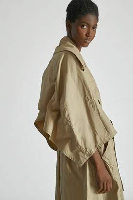 Yigal Azrouel Crinkle Parachute Trench Coat