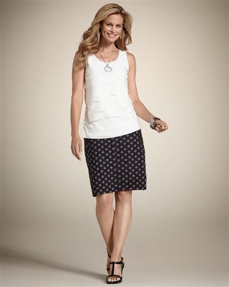 Chico's Polka Dot Charlotte Skirt