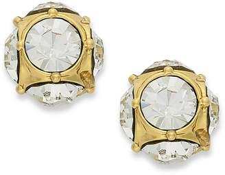 Kate Spade Earrings, 12k Gold-Plated Crystal Stud Earrings