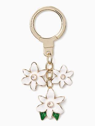 Kate Spade Enamel flower keychain