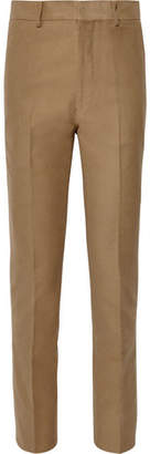 The Row Camel Mick Slim-Fit Cotton And Cashmere-Blend Moleskin Trousers