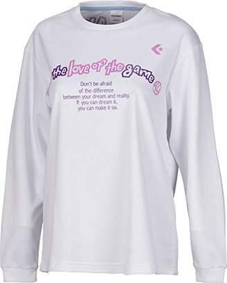 Converse (コンバース) - [コンバース] バスケットボールウェア 機能プリントロングスリーブTシャツ CB382306L [レディース] ホワイト 日本 S (日本サイズS相当)
