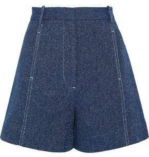 Rosetta Getty Cotton And Linen-Blend Shorts