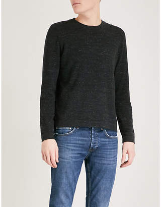 Sandro Crewneck marled cotton-blend jumper