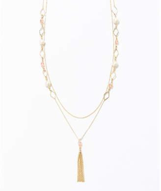 anySiS (エニィスィス) - any SiS ダイヤパーツタッセル2重 ネックレス