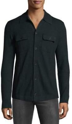 Saks Fifth Avenue Wool Blend Button Front Shirt
