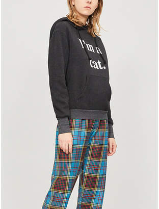 Wildfox Couture I'm A Cat cotton-blend hoody