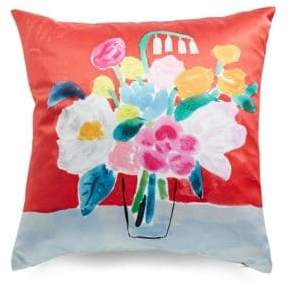 Kate Spade Painted Ogee Bouquet Pillow