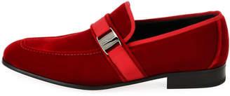 Salvatore Ferragamo Men's Velvet Formal Loafer, Red