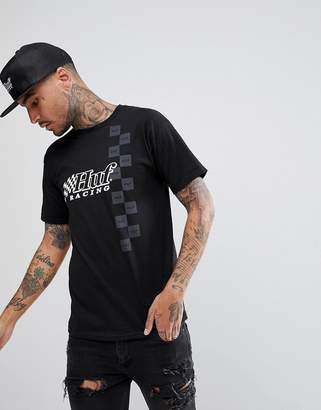 HUF Blackout T-Shirt With Racing Print