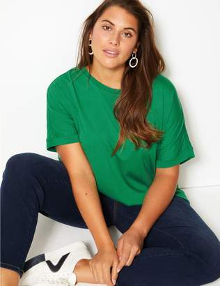 Marks and Spencer CURVE Round Neck Short Sleeve T-Shirt