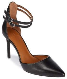 Halston H Ankle Strap Point Toe Heels