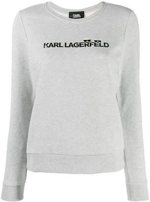 Karl Lagerfeld Paris contrast logo jumper