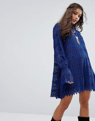 Free People Simone Zig Zag Mini Dress