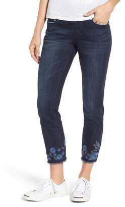 Jag Jeans Amelia Embroidered Slim Ankle Jeans