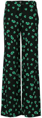 Miu Miu strawberry print trousers
