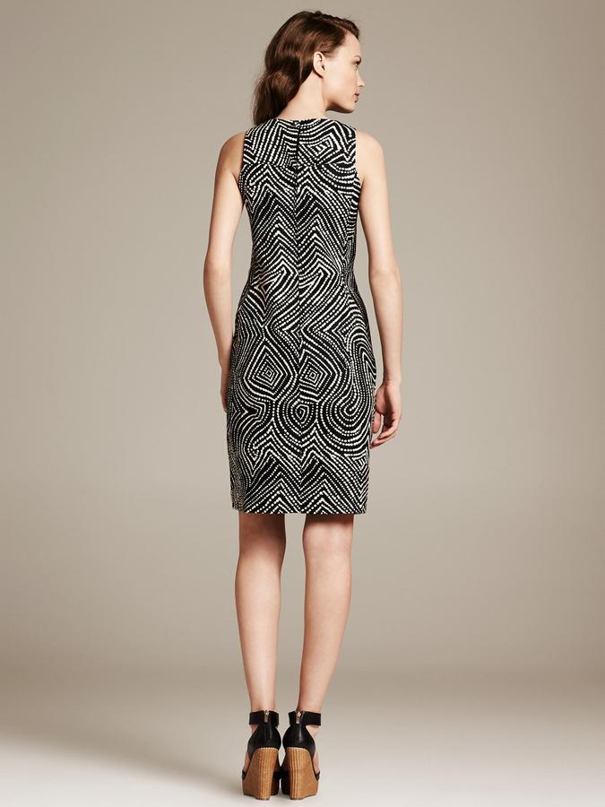 Banana Republic Heritage Swirl Print Sheath