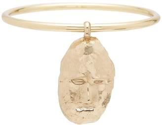 Ellery Hammered face-motif bangle
