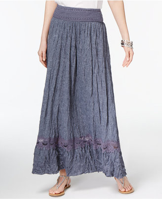 INC International Concepts Crocheted Maxi Skirt, Only at Macy's $79.50 thestylecure.com