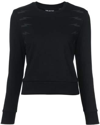 Neil Barrett bolt crop sweatshirt