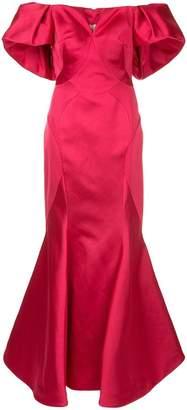 Zac Posen off-shoulder fishtail gown