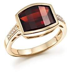 Bloomingdale's Garnet and Diamond Statement Ring in 14K Yellow Gold - 100% Exclusive