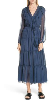 Bluebelle LEE MATHEWS Ruffle Silk Dress