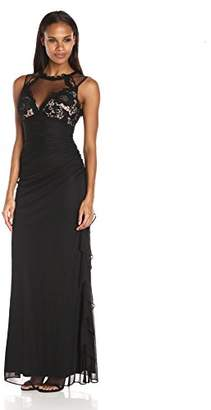 Betsy & Adam Women's Lace Illusion Top Gown $116.60 thestylecure.com