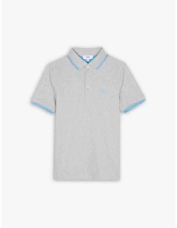 Logo piqué cotton polo shirt 4-16 years