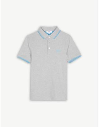 BOSS Logo piqué cotton polo shirt 4-16 years