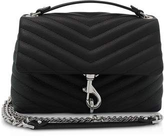 Rebecca Minkoff Black Quilted Leather Edie Xbody Bag