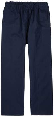 Raf Simons Navy Relaxed Cotton Trousers