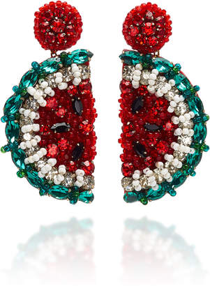 Deepa Gurnani Watermelon Glass Drop Earrings