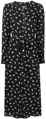 ALEXACHUNG Alexa Chung bunny print shirt dress