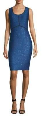 St. John Sequin Tweed Sheath Dress