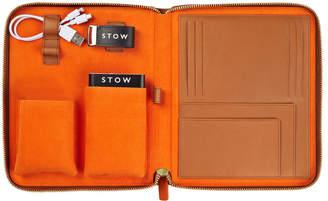 Stow First Class Sahara Tan Leather Tech Case