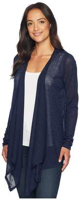 MICHAEL Michael Kors Open Cardigan with Uneven Hem Women's Sweater