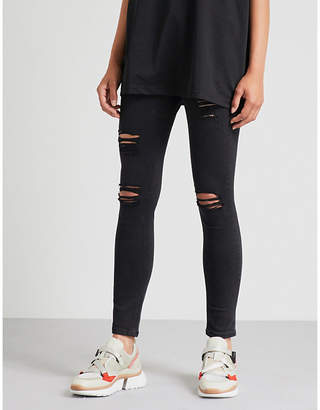 Hera Distressed high-rise skinny jeans
