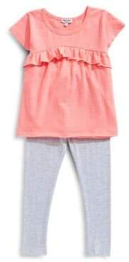 Splendid Baby's Two-Piece Flounce Top and Leggings Set