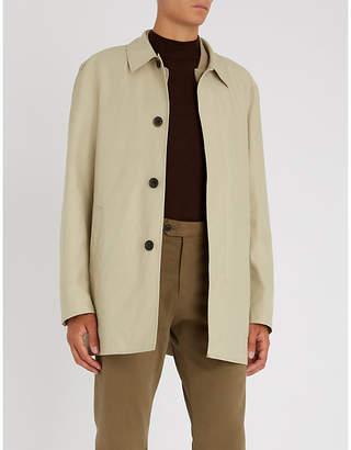 Gieves & Hawkes Sinclair cotton-blend coat