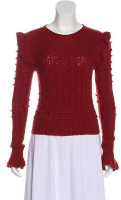 Philosophy di Lorenzo Serafini Virgin Wool Ruffled Sweater