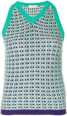 Etro sleeveless knitted top
