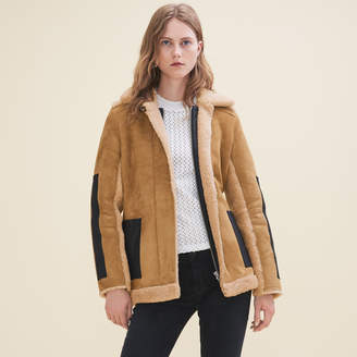 Maje Sheepskin coat