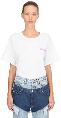 Natasha Zinko Logo Detail Distressed Jersey T-Shirt