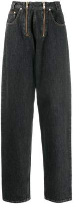 GmbH exposed double zip jeans