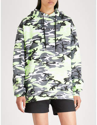Wasted Paris Camo logo-print cotton-jersey hoody